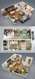 One Bedroom Apartment Design Simple 48 Two 48 Bedroom ApartmentHouse Plans To Live Pinterest