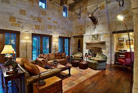 Hill Country Ranch Living Room Traditional Living Room Nice Design