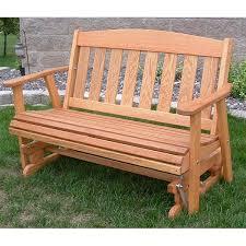 LuxCraft Adirondack Recycled Plastic 2u0027Glider Chair  Rocking Outdoor Glider Furniture