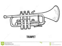 Livre De Coloriage Instruments De Musique Trompette