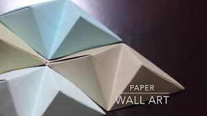 on paper wall art tutorial with diy origami wall art youtube