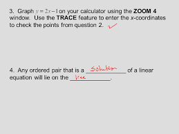 graph on your calculator using the zoom 4 window