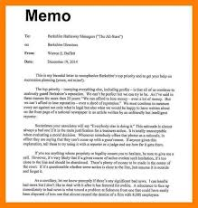 Memo Example Business 8 Format For A Memo 952 Limos