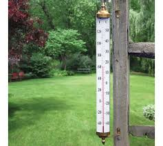 brass indoor outdoor wall thermometer
