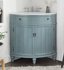 bathroom vanity 24 inch. 24 Inch Bathroom Vanity For Corner Cottage Beach Style Light Blue Color (24\