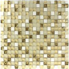 Glas Naturstein Mosaik Fliese Weiß Gold Mix - TM33100m