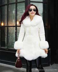 2016 winter high fashion women s luxurious faux fur coat socialite thick warm leather jacket parkas top quality for lady
