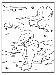 Kleurplaat Vampier Kleurplatennl