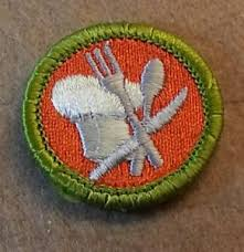 Cooking Merit Badge Bsa Cooking Merit Badge Type H 1972 2002 Plastic Back B00078 Ebay
