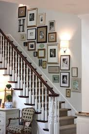 must try stair wall decoration ideas 26