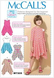 Sewing Patterns For Dresses Delectable Girls HandkerchiefHem Dresses McCalls Sewing Pattern 48 Sew
