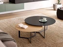 round wooden coffee table treku kabi