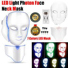 Led Light For Skin Details About 7 Color Led Light Photon Face Neck Mask Rejuvenation Skin Facial Therapy Wrinkle