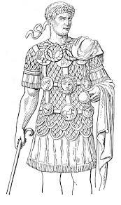 Kleurplaat Romeinen Legionaer Ausmalbild Malvorlage Phantasie