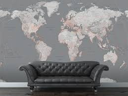 wall mural world map laminated wall murals ideas