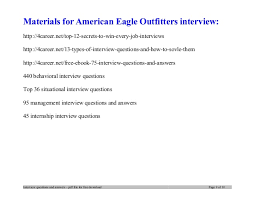 ... 9. Materials for American Eagle ...