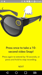 after turning on your phone s bluetooth you pair them with your snapchat by pressing a on on the frames and snapping a snapcode qr code
