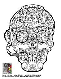 Skull Printable Coloring Pages Inspirationa Day The Dead Mandala