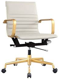 leather office chair amazon. Meelano M348 Office Chair In Vegan Leather, Grey Gold Leather Amazon E