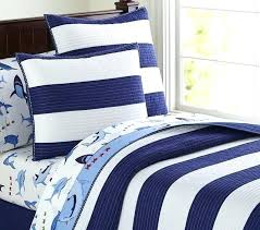 blue and white striped bedding sets quilt simple design quality for children with 2 sheets king