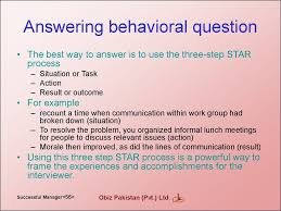 how to become a successful manager  answering behavioral question