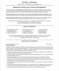 Production Manager Resumes Marketing Production Manager Marketing Resume Project