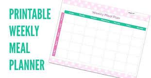 Weekly Meal Planner Template Free Download Jasonwang Co