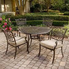 4 cast aluminum dining chairs