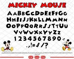 Mickey mouse font svg mickey letters svg mickey font svg
