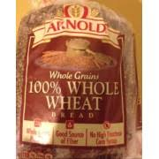 arnold bread whole grains 100 whole wheat nutrition