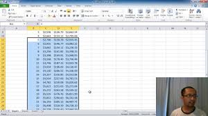 microsoft excel lesson 2 compound interest calculator absolute referencing fill down you