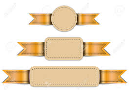 Free Leather Templates Banners Made Of Leather Tag Labels Design Templates Vector