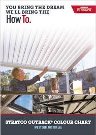 Stratco Colour Chart Browse Our Brochures For Patio Builders Perth Aussie Patio