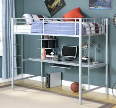 bed with office underneath. Bunk Bed Office Underneath Grey Metal With Desk Home Interiors .