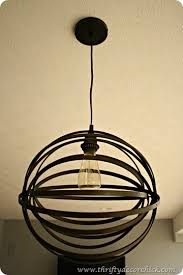 orb light fixture. DIY Orb Light Embroidery Hoops Fixture