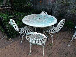 cast iron table and chairs wrought iron patio table set vintage 9 piece wrought iron patio cast iron table and chairs