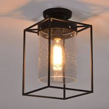 seeded glass lighting fixtures. seedy glass shade ceiling fixture metal wire cage semi flush light seeded lighting fixtures e