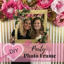 diy party photo frame
