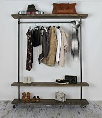 Alluring Industrial Clothing Rack For Furniture Decor Ideas With Industrial  Pipe Clothing Rack