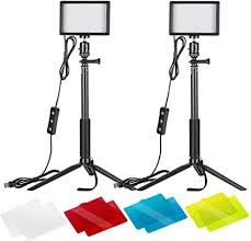 Neewer <b>2 Packs</b> Dimmable 5600K USB LED Video Light with ...