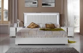 VIG Modrest San Marino Glossy White King Bedroom Set 3Pcs Modern ...