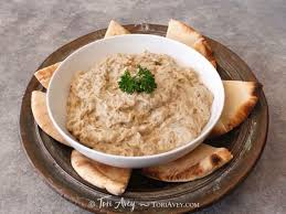 creamy baba ghanoush recipe for luscious middle eastern roasted eggplant dip rich with sesame