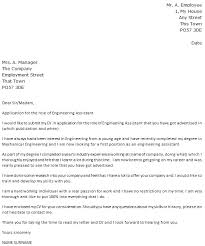 Engineering Assistant Cover Letter Example Icover Org Uk