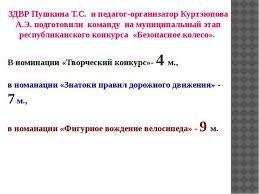 Отчет кружковой работы школы ЗДВР Пушкина Т С и педагог организатор Куртэюпова А Э подготовили