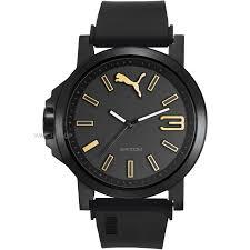 men s puma pu10346 ultrasize 45 black gold watch pu103462020 mens puma pu10346 ultrasize 45 black gold watch pu103462020