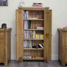tilson solid oak furniture cd dvd storage cabinet cupboard rack unit bookcase