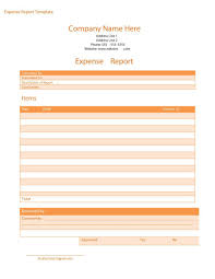 Blank Expense Report Form 40 Expense Report Templates To Help You Save Money