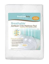 amazoncom  breathablebaby airmesh crib mattress pad white  baby