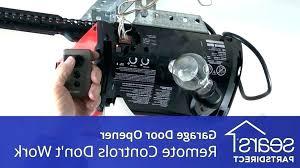 craftsman garage door opener remote not working com