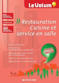 Livre Restauration Cuisine Et Service En Salle Le Volum Bts